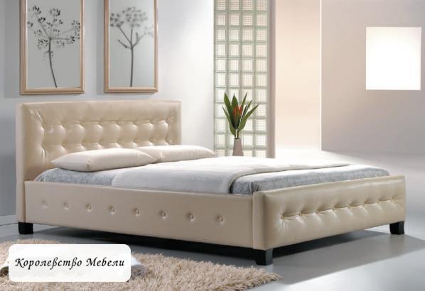 Кровать BARCELONA (160/200) крем,с основанием (Signal)