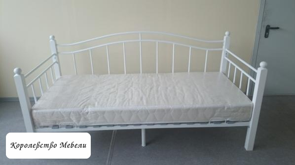 Кровать Garda-8 (90*200) белая, с основанием