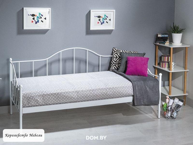 Кровать DOVER (90*200) белая, с основанием