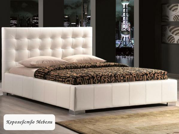 Кровать Calama (160*200) белая,с основанием (Signal)