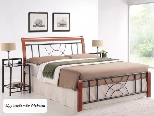 Кровать  CORTINA (160*200) черешня античная, с основанием