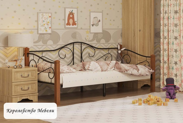 Кровать Garda -7 (90*200) вишня, с основанием