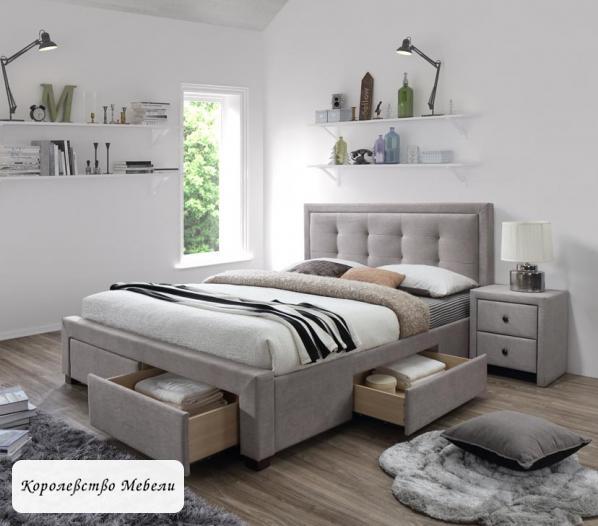 Кровать двуспальная Evora (160*200) с ящиками (HALMAR)