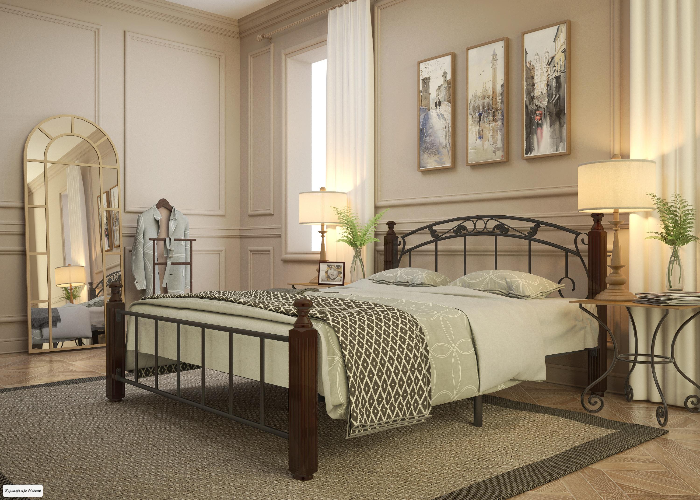 Кровать Garda-15, венге, с основанием