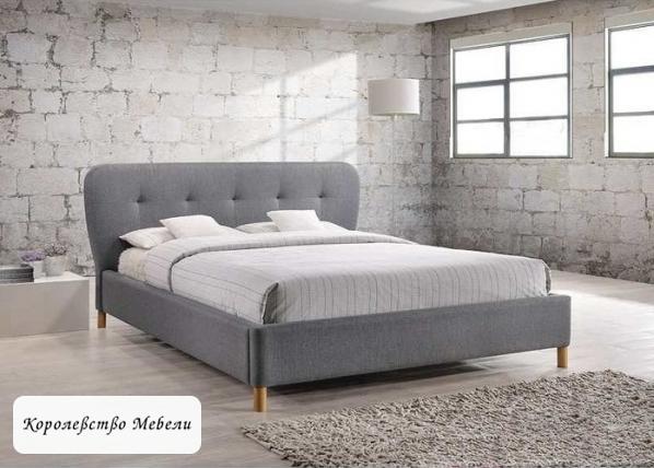 Кровать двуспальная BELLA (160*200) (Signal) серая, с основанием