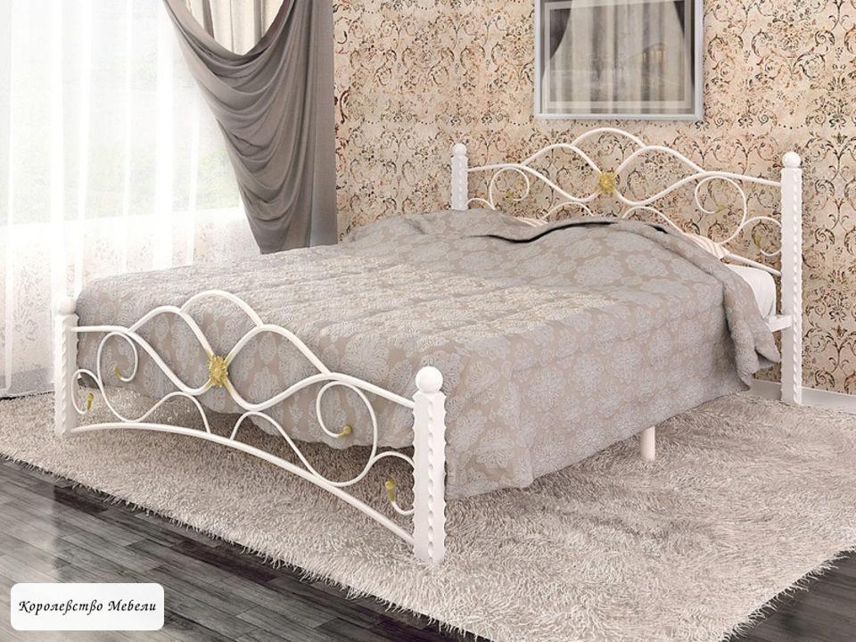 Кровать Garda-3,белая, с основанием