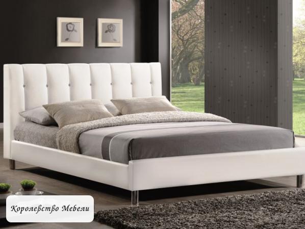 Кровать  Nadi (160*200) белый,с основанием (Signal)