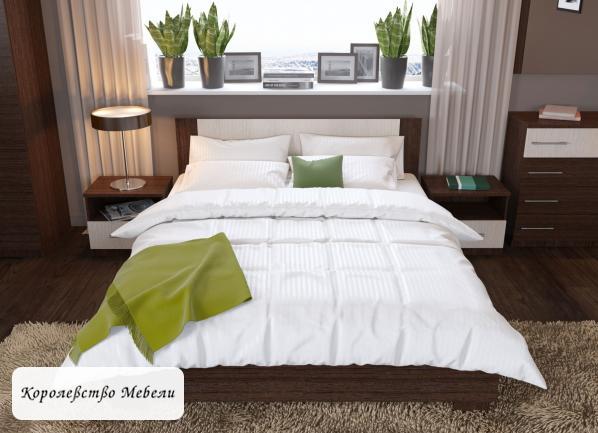Кровать Аврора (90*200)(венге/дуб молочный),с основанием