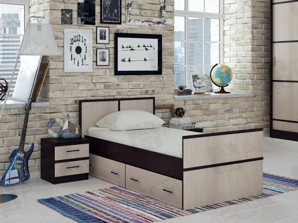 Кровать Сакура с ящиками (90*200)