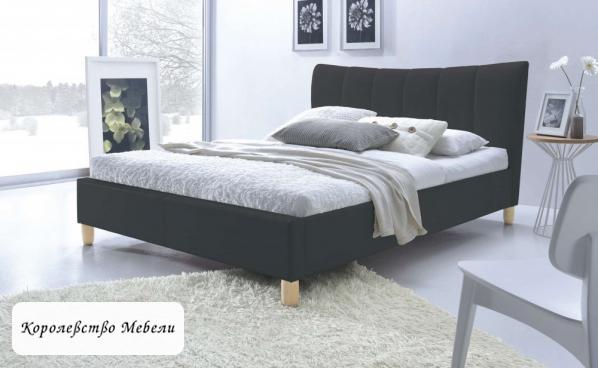 Кровать SANDY (160*200) (черная), с основанием (Halmar)