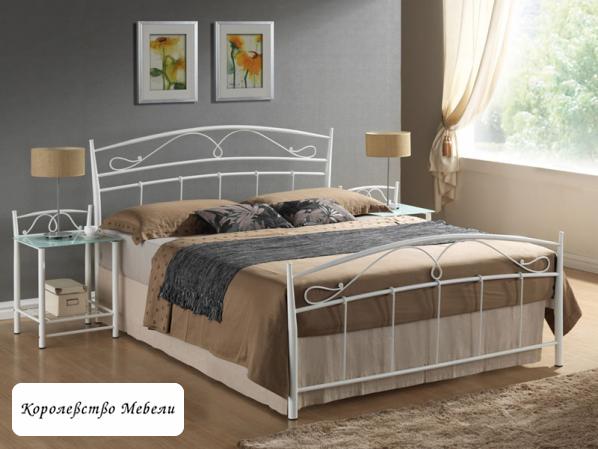 Кровать SIENA (160*200) белая,с основанием (Signal)