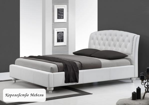 Кровать SOFIA (160*200) белая, с основанием (Halmar)