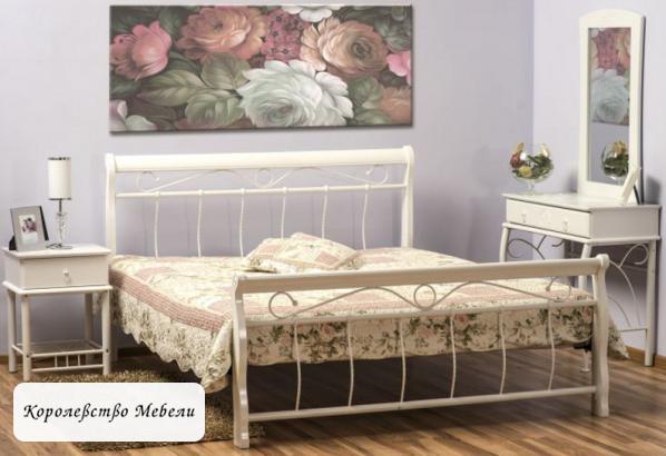 Кровать  VENECJA (160*200) белая, с основанием (Signal)