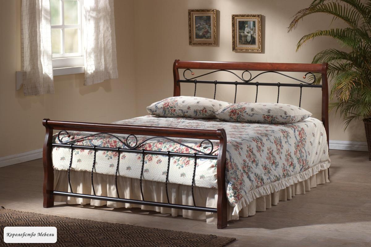Кровать Venecja Bis ,черешня античная,с основанием
