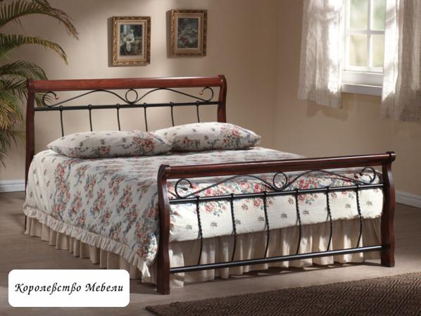 Кровать VENECJA (160*200) черешня античная,с основанием (Signal)