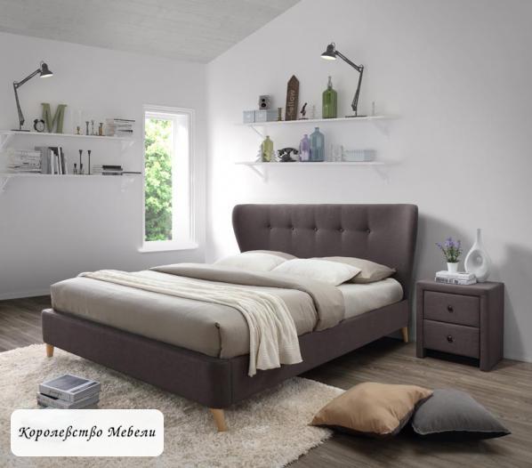 Кровать двуспальная Viena (160*200) c основанием (HALMAR)