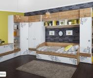 Кровать с 2 ящиками Оксфорд ТД-139.12.01 (80*200)
