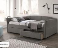 Кровать Lanta (90*200) (серая), с ящиками