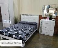 Кровать Белла, с мягкой спинкой, без основания