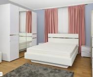 Кровать Линда с подъем. мех. (белый снег)