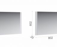 Зеркало Йорк  (белый )
