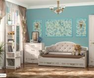 Кровать Флоренция 11.07 (80*190) с ящиками, с мягкой спинкой