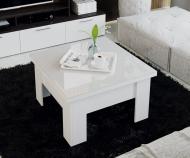 Стол -трансформер  Glance Тип 1 (белый/стекло белый глянец)
