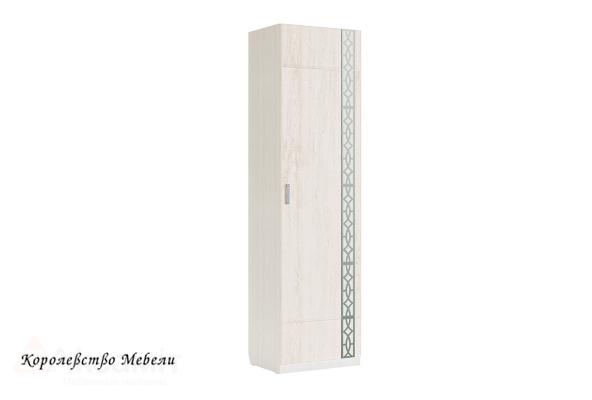 Белла 15 шкаф узкий (рамух белый)