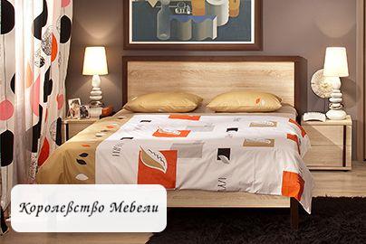 Кровать BAUHAUS, без основания (дуб сонома)