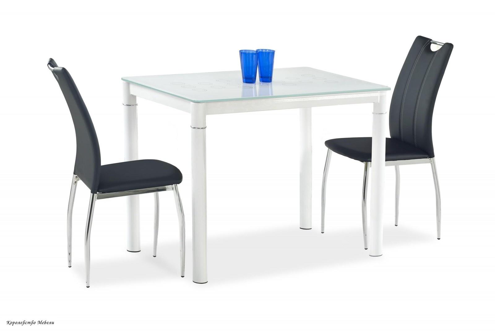 Стол стеклянный ARGUS (100*60), молочно/ белый