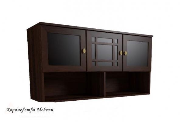 Sherlock 4 Шкаф навесной (орех шоколадный)