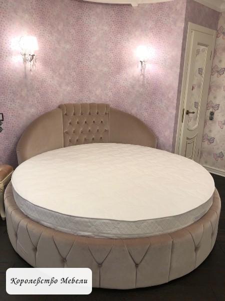 Круглая кровать Инэс-2.