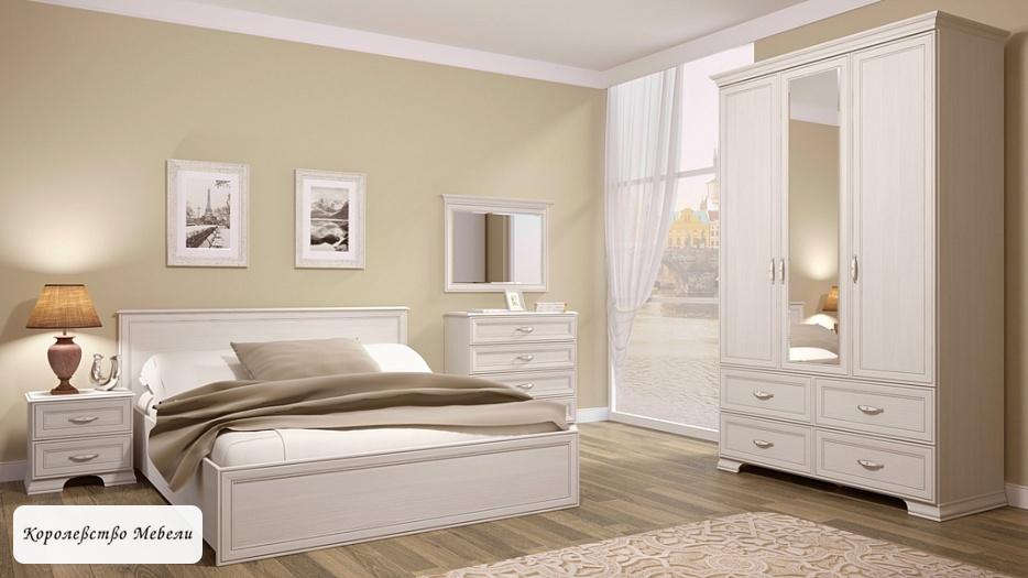 Кровать Венеция , с без основания (бодега светлый)