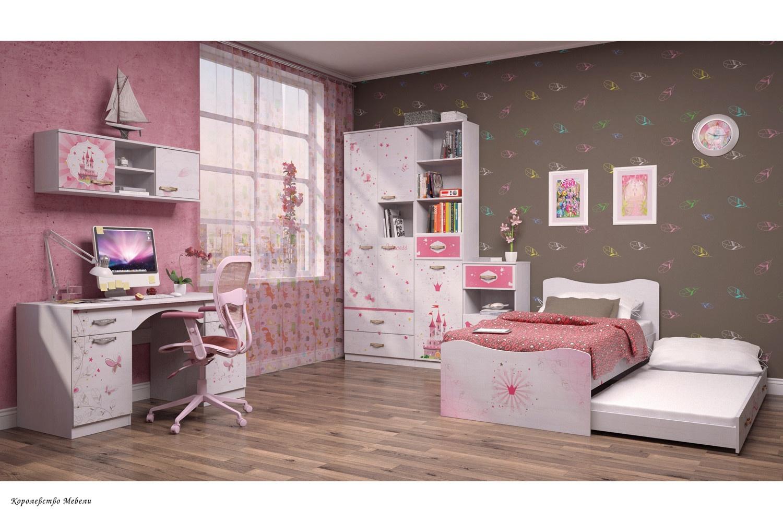 Кровать Принцесса 4 (90*190) с ящиком, с основанием