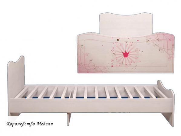 Кровать Принцесса 5 (90*190)  без ящиков, с основанием