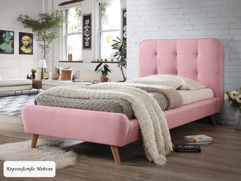 Кровать Tiffany (90*200) (розовая), c основанием