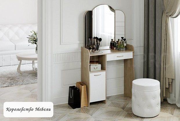 Стол туалетный София Т1 (дуб сонома / белый)