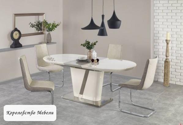 Стол раздвижной Iberis (160--200) (кремовый/серый)