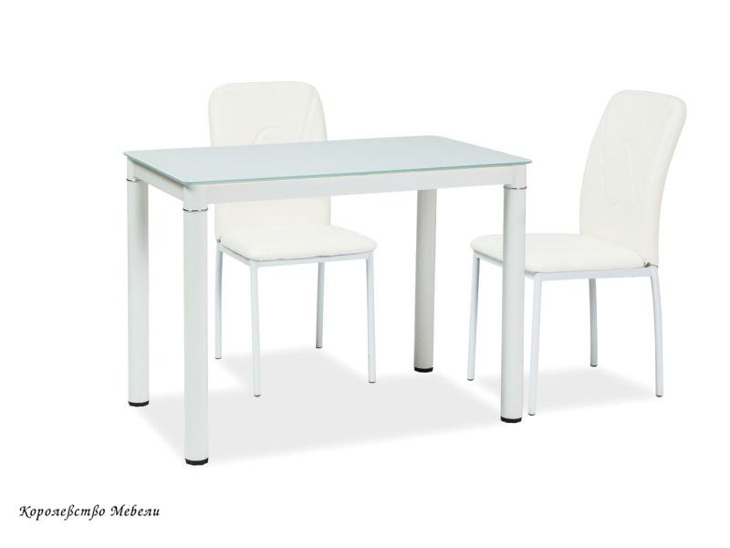 Стол стеклянный GALANT (100*60), белый