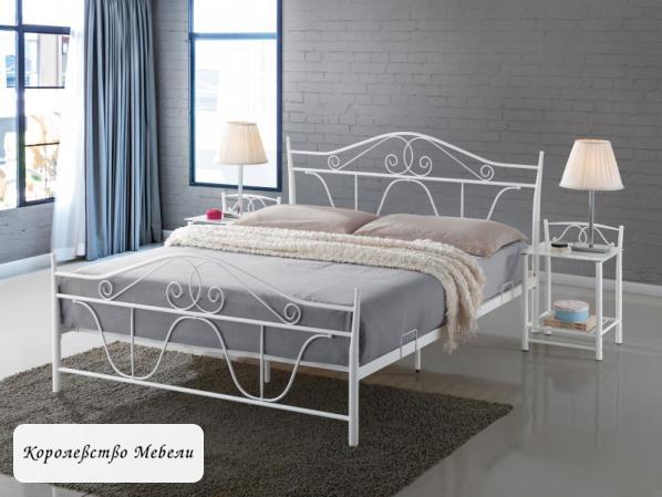 Кровать DENVER (160*200) белая, с основанием