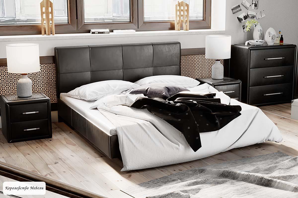 Кровать Элис Тип 1 , с основанием (темный)