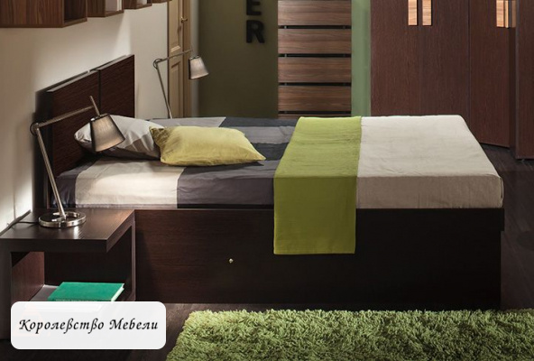 Кровать HYPER, с подъемным механизмом ,венге монохром