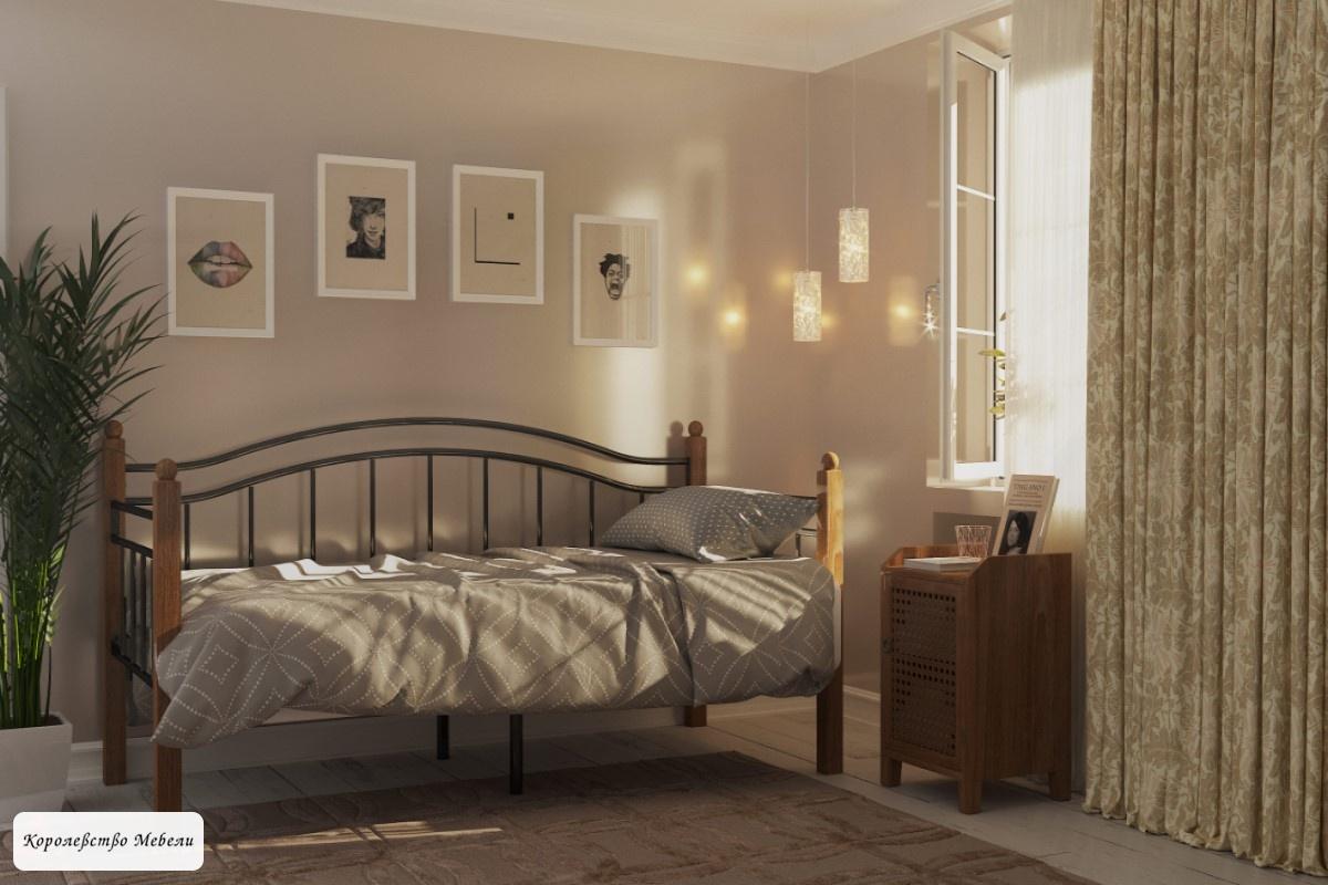 Кровать  Garda-8 (90*200), вишня, с основанием