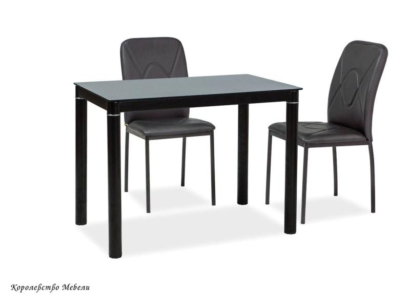 Стол стеклянный GALANT (100*60), черный