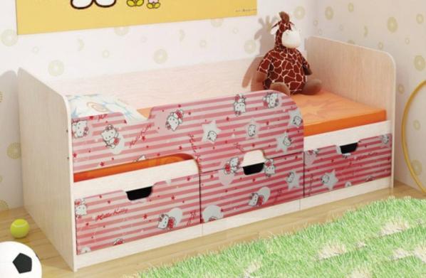 Кровать Минима Хеллоу Китти с ящиками (80*186)
