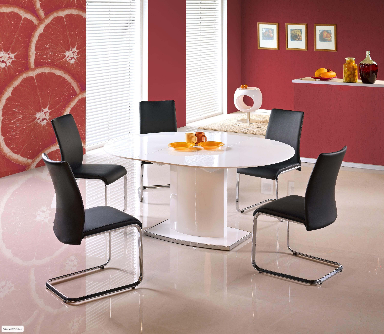 Стол раздвижной  FEDERICO (120--160/120) (белый)