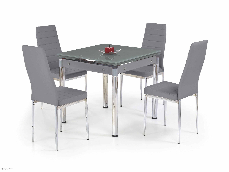 Стол раздвижной KENT (80--130), серый /хром
