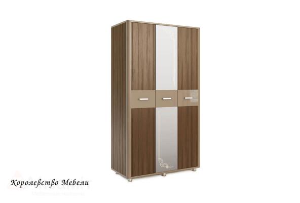 Оливия 13 шкаф 3-дверный Дезира тёмный/мокко