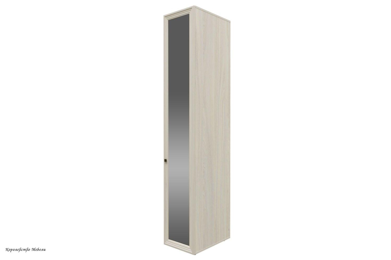 Paola 55 Шкаф для одежды фасад зеркало (ясень анкор светлый)