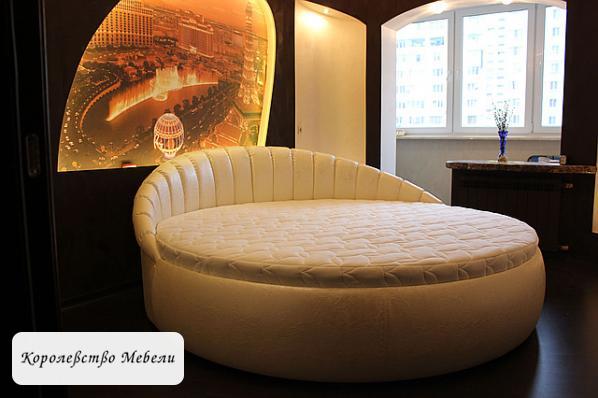 Круглая кровать Жаклин.